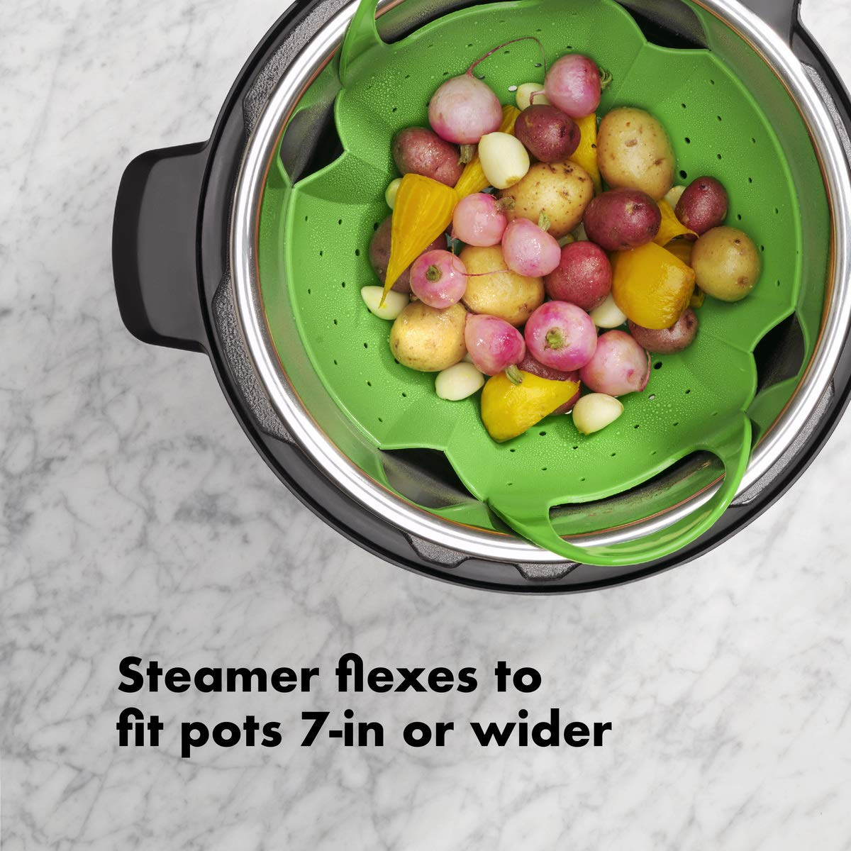 OXO Good Grips Silicone Steamer, Green by OXO (Image #2)
