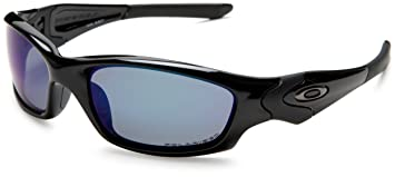 Oakley Straight Jacket Lunettes de soleil Polished Black Deep Blue Polar e40516699c8e