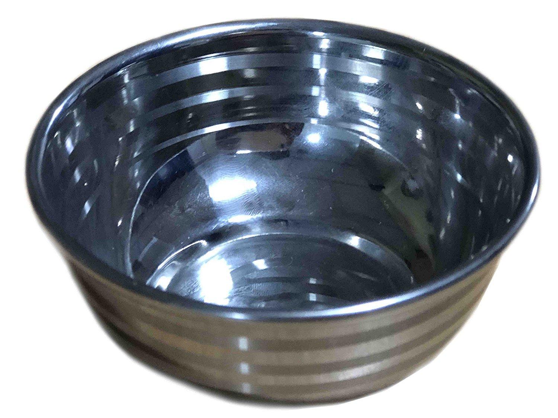 Stainless Steel Multi-Purpose Mixing & Serving Bowl (Wati/Katori) Soup Bowls, Fruit Bowls, Snack bowls, Serving Tableware kitchen Dinnerware Bowls, Silver Colour Size 11cm X 11cm B078K45VL7