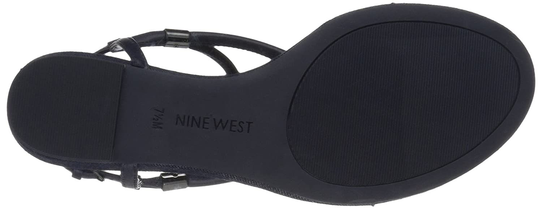Nine West Women's Rivers Synthetic Dress Sandal B01MQTTFXT 5 B(M) US|Navy