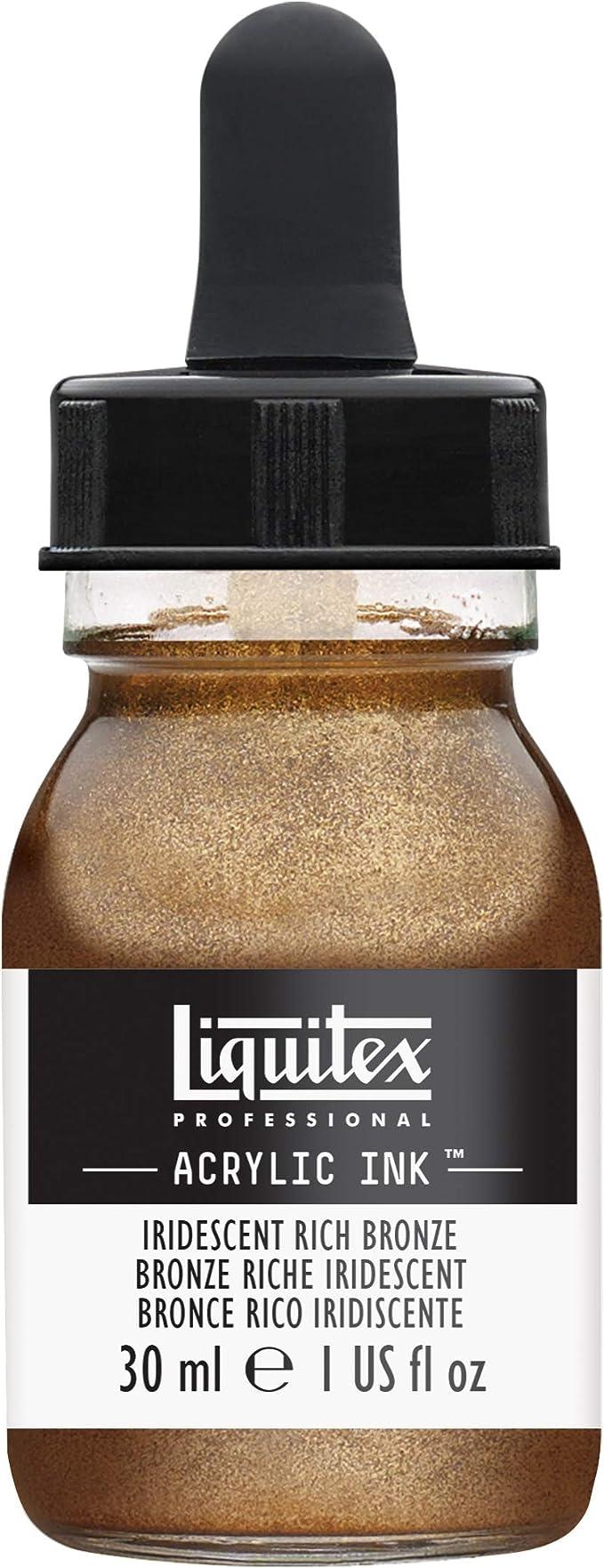 Liquitex Tinta acrílica Ink Profesional Frasco 30 ml, Bronce Rico Iridiscente