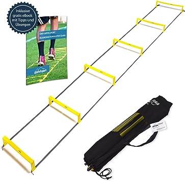 Escalera de coordinación con obstáculos de gipfelsport – Set, 3 m, con funda | velocidad Escalera |