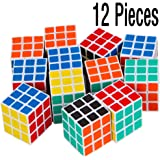 12 Packs Mini Cubes, Speed Cubes, Stickerless Magic Cube 3x3x3 Puzzles Toys, Party Favors, Party Supplies
