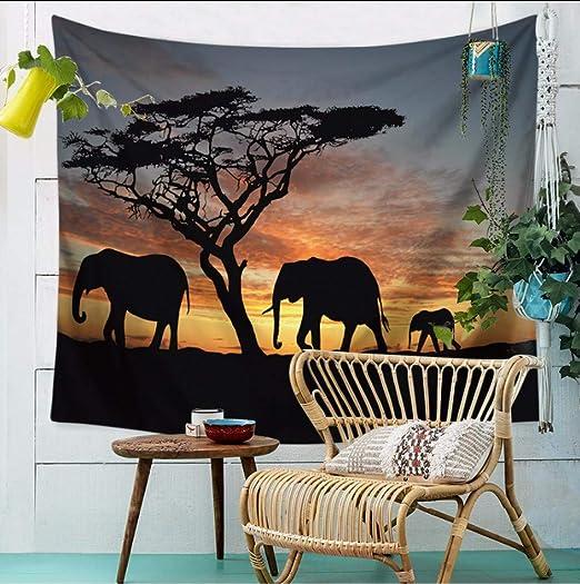 Elefant Tischdecke Afrika Safari Wildlife Kein Verblassen