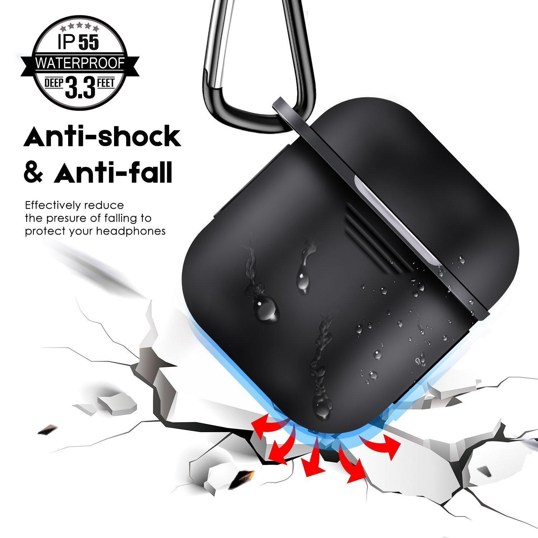 Derhom Apple Airpods Funda de Silicona Rojo Airpods Accessories