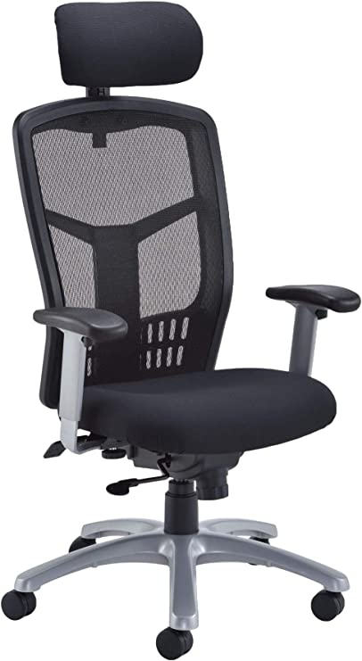 Office Hippo 24 Hour Ergonomic Office Chair With Adjustable Arms Heavy Duty Office Chair For Desk High Back Fabric Black Amazon Co Uk Kitchen Home