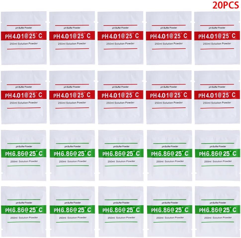 AISme 20 Pcs PH Buffer Solution Powder PH For Test Meter Measure Calibration 4.01 6.86