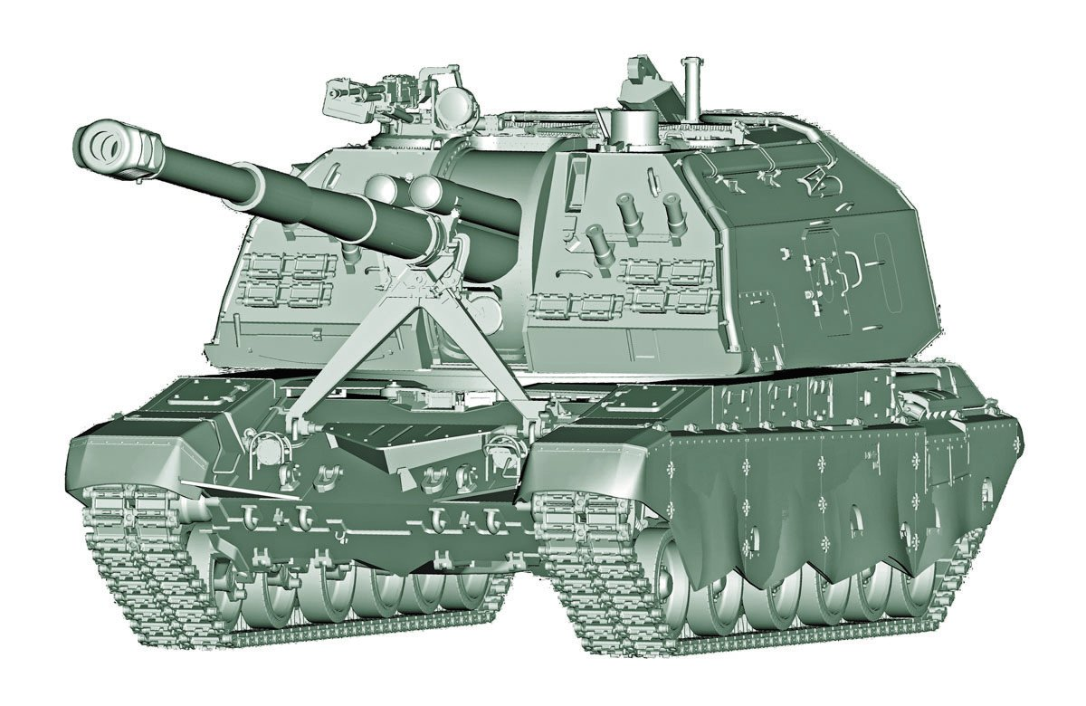 Trumpeter 1:35 - 2s19-m2 Self Propelled Howitzer