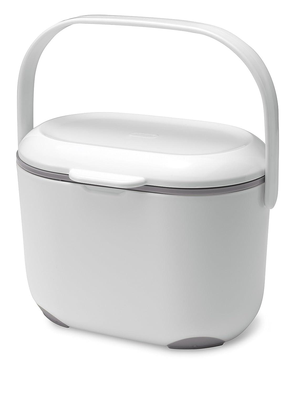Addis 2.5 Litre Kitchen Compost Caddy, White/Grey: Amazon.co.uk ...