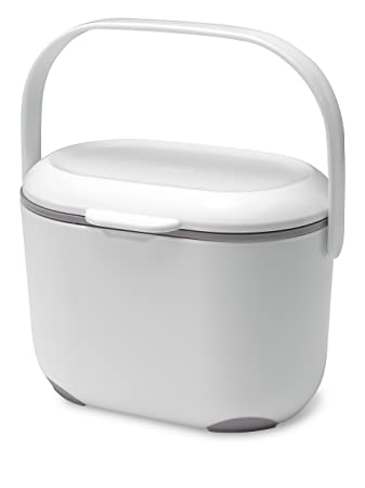 Addis 2,5 litros Cubo para Compost Kitchen, Blanco/Gris