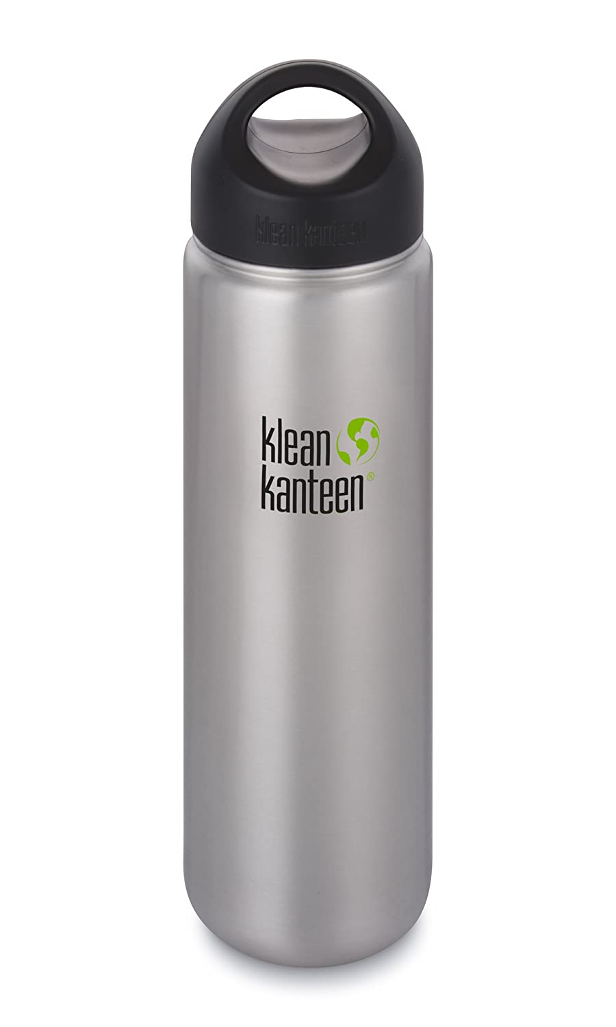 Klean Kanteen Wide Mouth Stainless Steel Water Bottle Single Wall with Leak Proof Stainless Steel Interior Cap (New 2018)