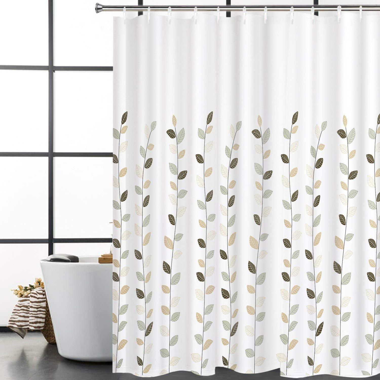 BLEUM CADE Bathroom Shower Curtain Concise Leaves Painting Art ...