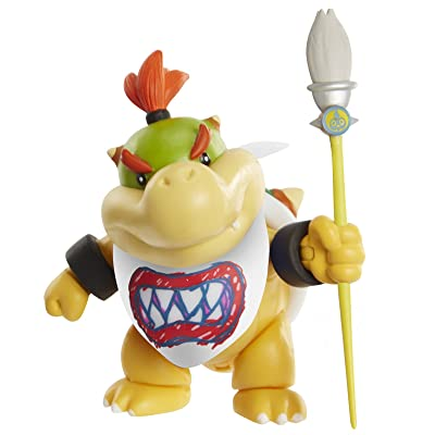 """World of Nintendo Bowser Jr. with Paint Brush Action Figure, 4"""": Toys & Games"""