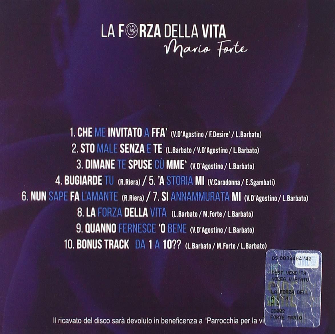 Forte Mario La Forza Della Vita Amazon Com Music