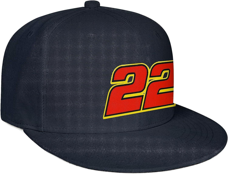 Hoklcvd Unisex Stylish Baseball Cap 22 Joey Logano Name Number Athletic Wash Dad Hat Comfortable 21350