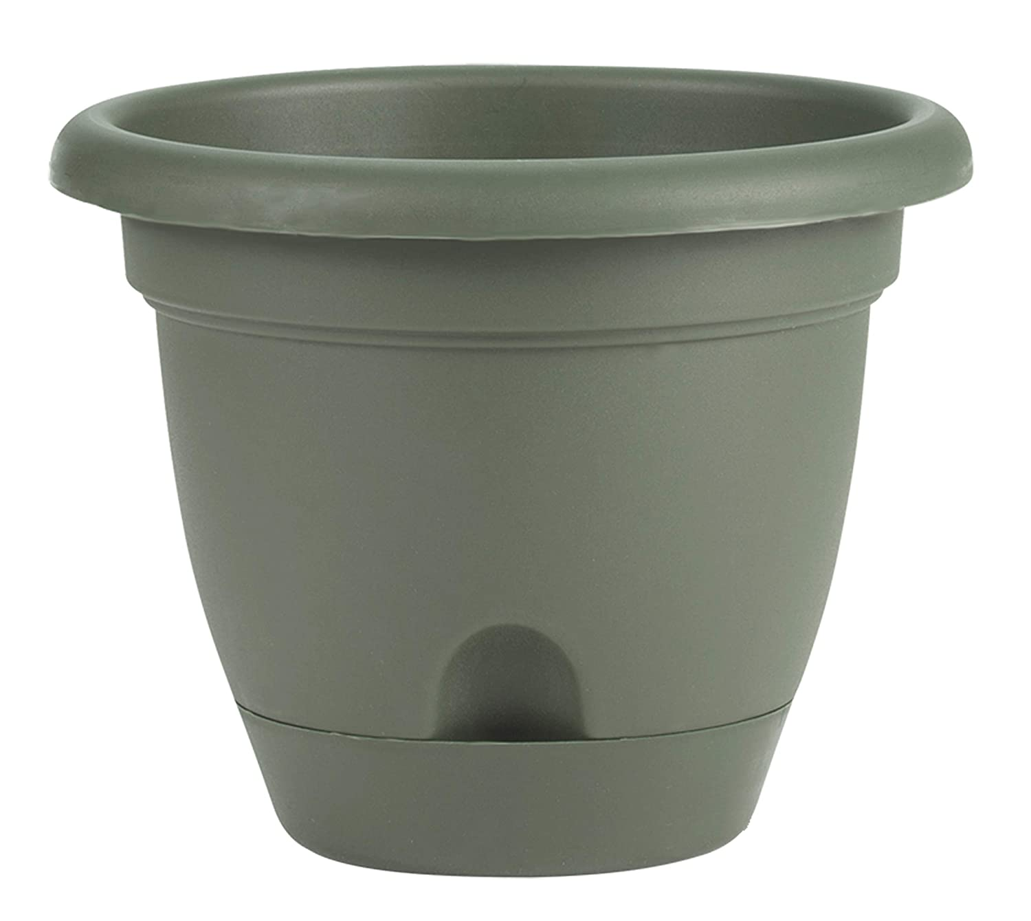 Bloem 010040 LP1042 Lucca Planter, 10-Inch, Living Green