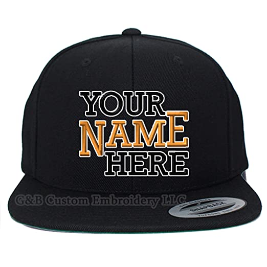 98c13df8 Yupoong Custom Hat. 6089 Snapback. Embroidered. Place Your Own Text