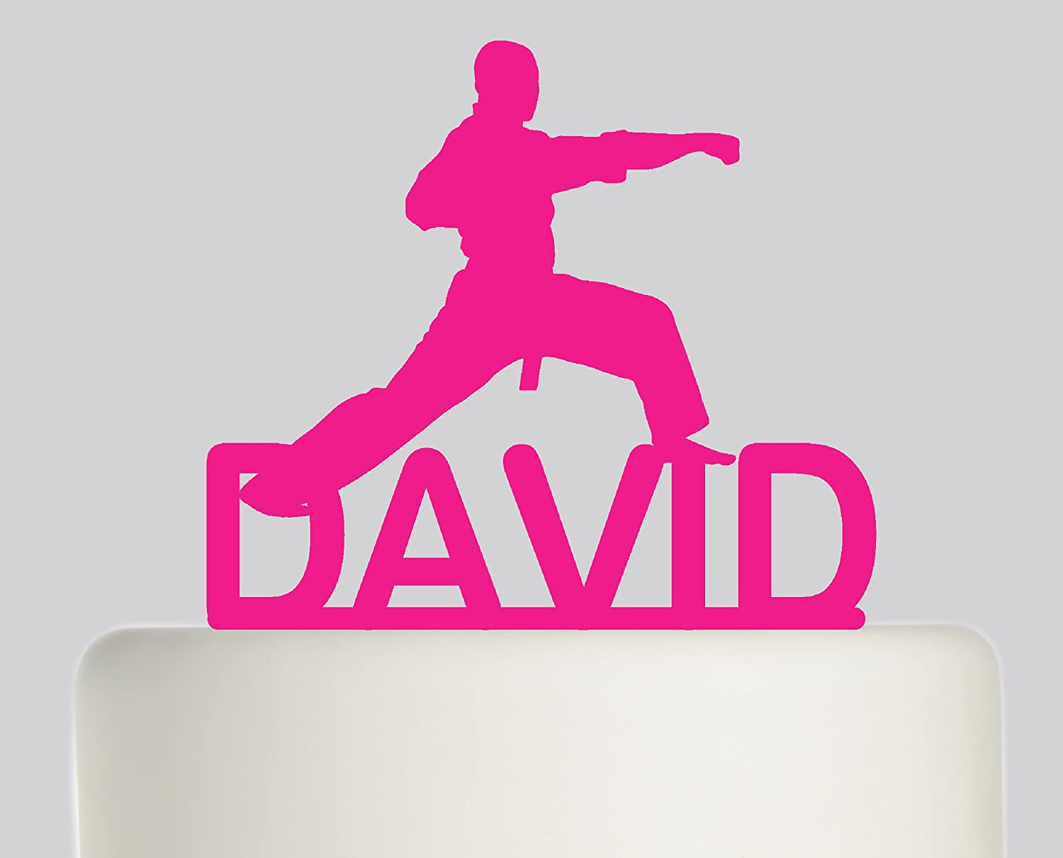 Large Birthday Cake Topper Martial Arts Judo Karate Taekwondo Ju Jitsu Personalised With YOUR NAME Ideal Decoration Party