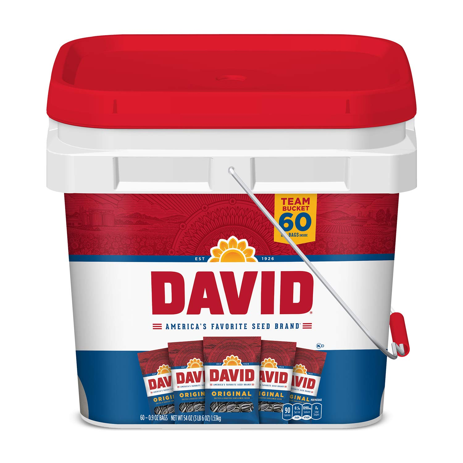 David Seeds Original Sunflower Bucket, 3.37 Pound by DAVID Seeds (Image #1)