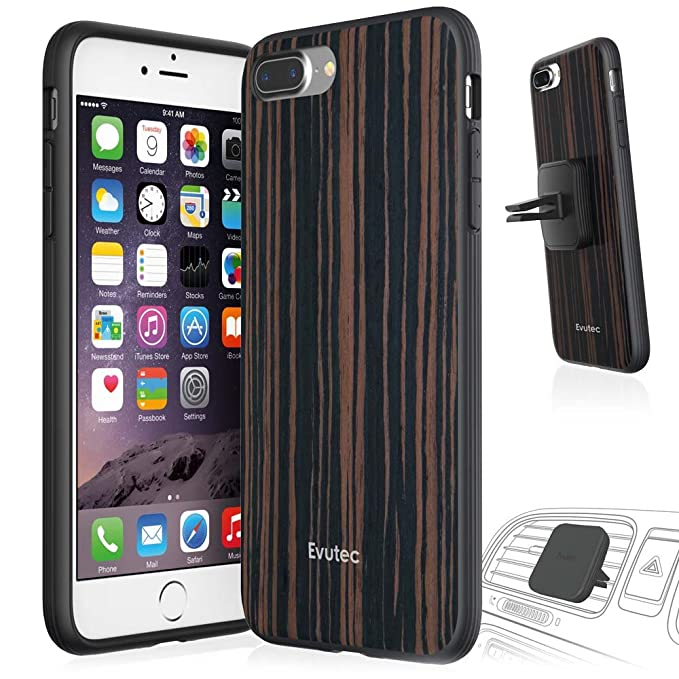 sale retailer b3006 cf325 Evutec AER Series Wood Phone Case for iPhone 7 Plus with AFIX Magnetic Vent  Mount - Ebony