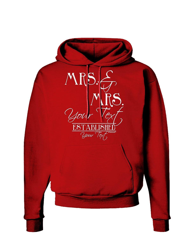 TooLoud Personalized Lesbian Mrs and Mrs Design Dark Hoodie Sweatshirt Established Date Name