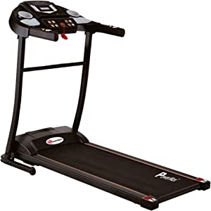 PowerMax Fitness Unisex Adult TDM-97 (3 Hp peak), Light Weight, Foldable Motorized Treadmill For Workout At Home - Black
