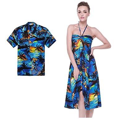 Hawaii Hangover Couple Matching Hawaiian Luau Party Outfit Set Shirt Dress In Sunset Blue Men 2XL  sc 1 st  Amazon.com & Hawaii Hangover Couple Matching Hawaiian Luau Party Outfit Set Shirt ...