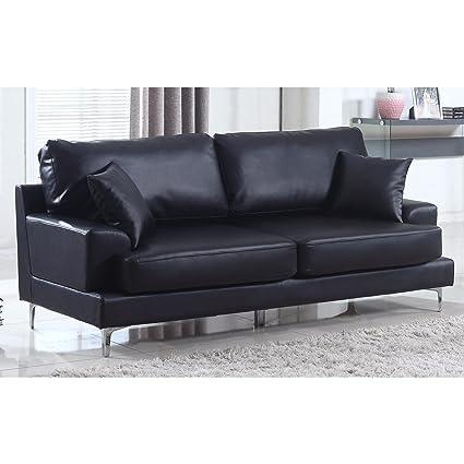 Amazon.com: Madison Home Ultra Modern Plush Bonded Leather Living ...