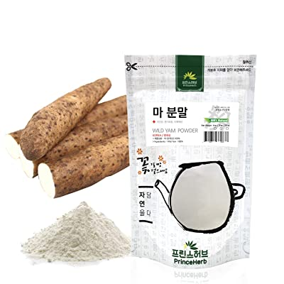 [Medicinal Korean Herbal Powder] 100% Natural Wild Yam Powder (Dioscorea polystachya/Shanyao/마 분말) (4 oz) : Garden & Outdoor
