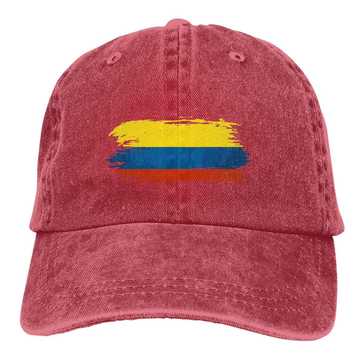 PMGM-C Colombia Flag Adult Personalize Jeans Hip Hop Cap Adjustable Baseball Cap