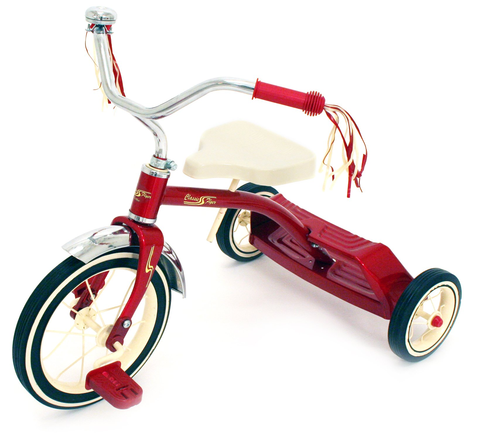 Kettler Classic Flyer by 12'' Retro Trike with Adjustable Seat: Candy Apple Red, Youth Ages 1.5 to 4 by Kettler (Image #1)