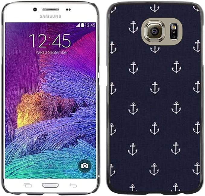 Boys Wallpaper Anchor Boat Ship Aluminum Metal Hard Plastic Back Case Cover Black Samsung Galaxy S6 Amazon Co Uk Electronics