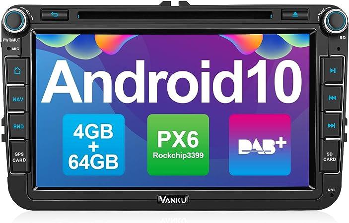 Vanku Android 10 Autoradio Für Vw Radio 64gb 4gb Px6 Elektronik