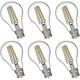 FLSNT A19/A60 LED Edison Light Bulbs 60W Equivalent B22 Base,7 Watts LED Filament Bulbs,2700K Soft White,Non-Dimmable…