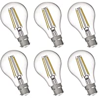 FLSNT A19/A60 LED Edison Light Bulbs 60W Equivalent B22 Base,7 Watts LED Filament Bulbs,2700K Soft White,Non-Dimmable…