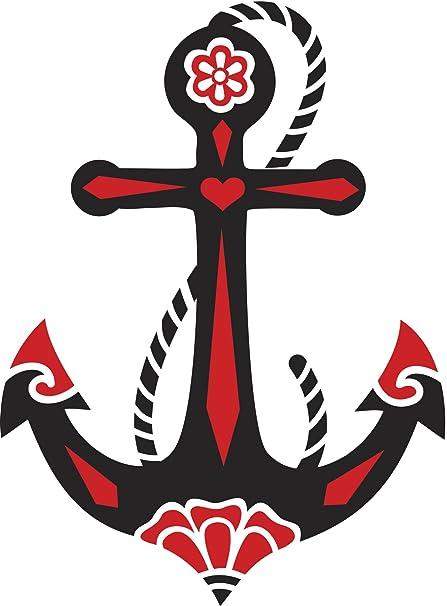 Ship Anchor Faith Hope Love Symbol 1 Red Black White Vinyl Decal