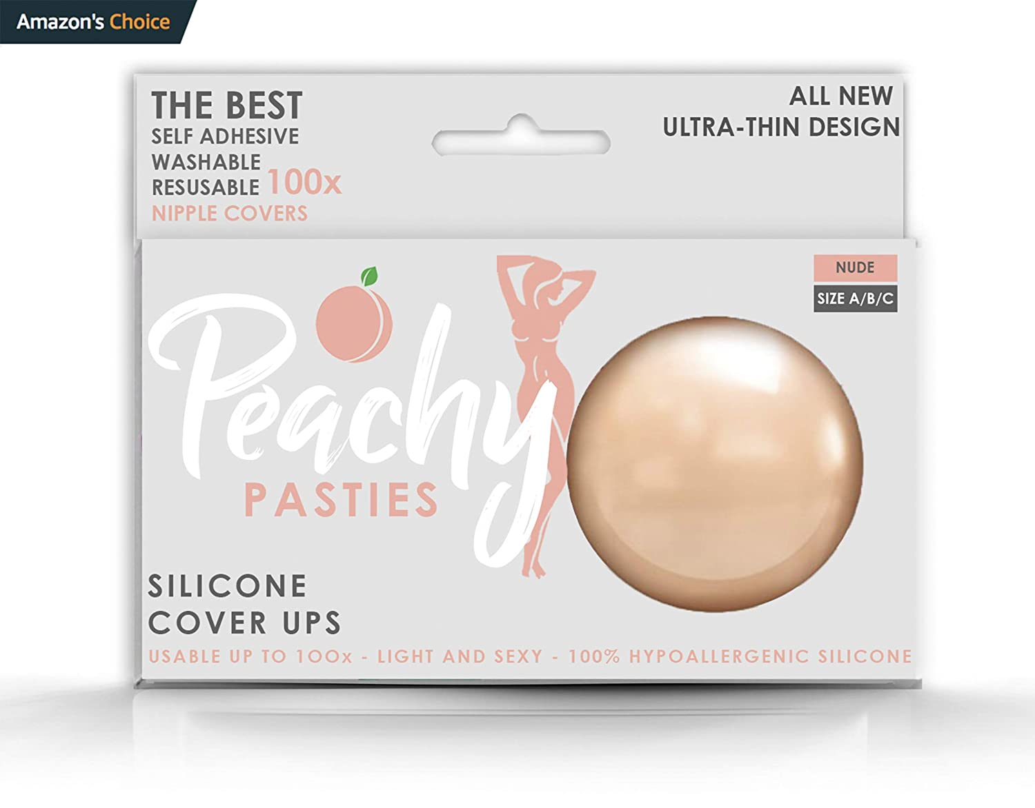 1 Petal Pair PEACHY Pasties for Women Adhesive Reusable NippleCovers Round Petal Silicone Cover