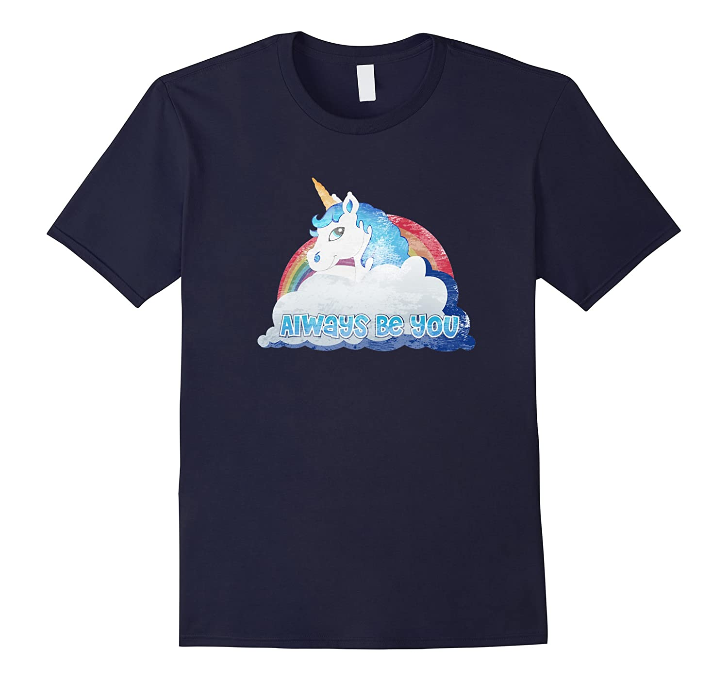 Always Be You Unicorn Distressed Premium T Shirt-BN