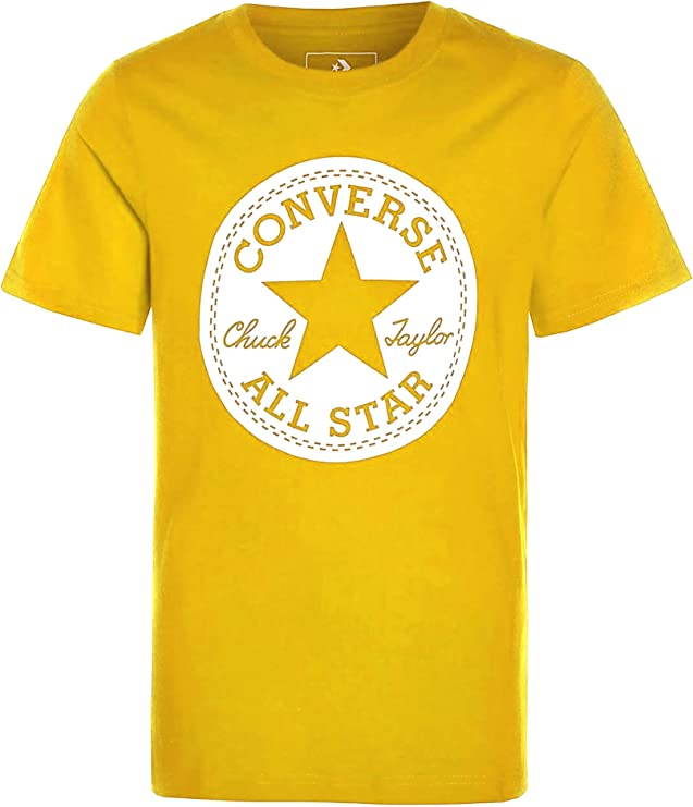 Converse Camiseta Niño Amarilla - Chuck Taylor Script S/S tee (12-13 Years): Amazon.es: Ropa y accesorios