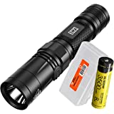Nitecore EC23 1800 Lumens High Performance LED Flashlight, 1x High Capacity 3500mAh 18650 Rechargeable Battery and Lumen Tactical Battery Organizer