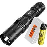 NITECORE EC23 1800 Lumens High Performance LED Flashlight, 1x High Capacity 3500mAh 18650 Rechargeable Battery and Lumen Tactical Battery Organizer