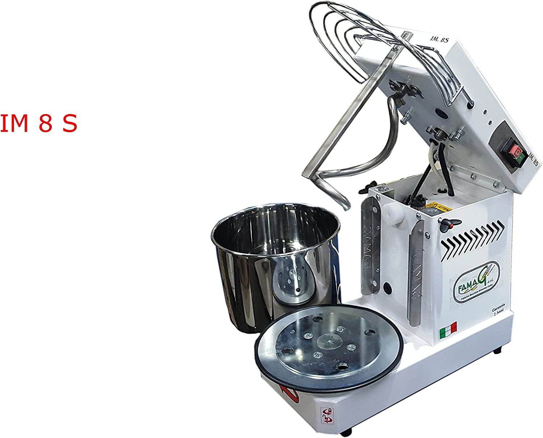 Máquina del PAN Pizza amasadora a espiral profesional 8kg abatible para pan, pizza, galletas, Panettone, repostería, para un uso casalingo o profesional FAMAG grilletta. Nuova Gamma.