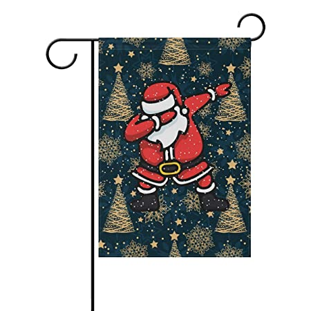 Naanle Christmas Double Sided Polyester Garden Flag 12 X 18 Inches Santa Claus Christmas Tree Decorative Flag For Party Yard Home Decor Amazon In Garden Outdoors