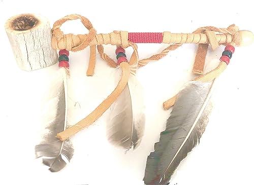Roger Enterprises Authentic Navajo Handmade Deer Antler Tobacco Pipe 8″