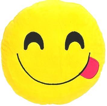 Chords Yummy Smiley Emoticon Plush Soft Toy Cushion 18CM