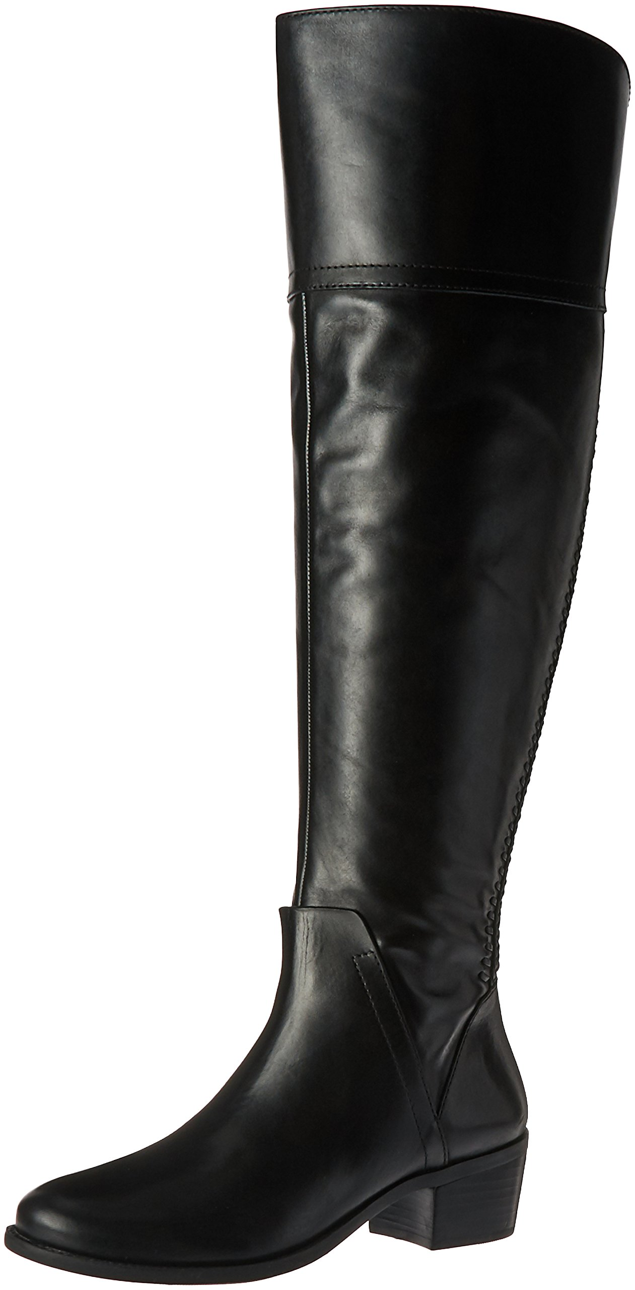 Vince Camuto Women's Bendra Riding Boot, Black/Wide Calf, 5.5 M US