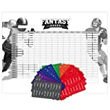 Amazon Price History for:2017 Fantasy Football Draft Board and Player Labels Kit