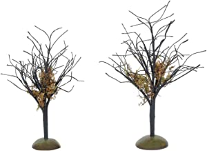 Department 56 Village Collection Accessories Halloween Midnight Moss Trees Figurine Set, Various Sizes, Multicolor