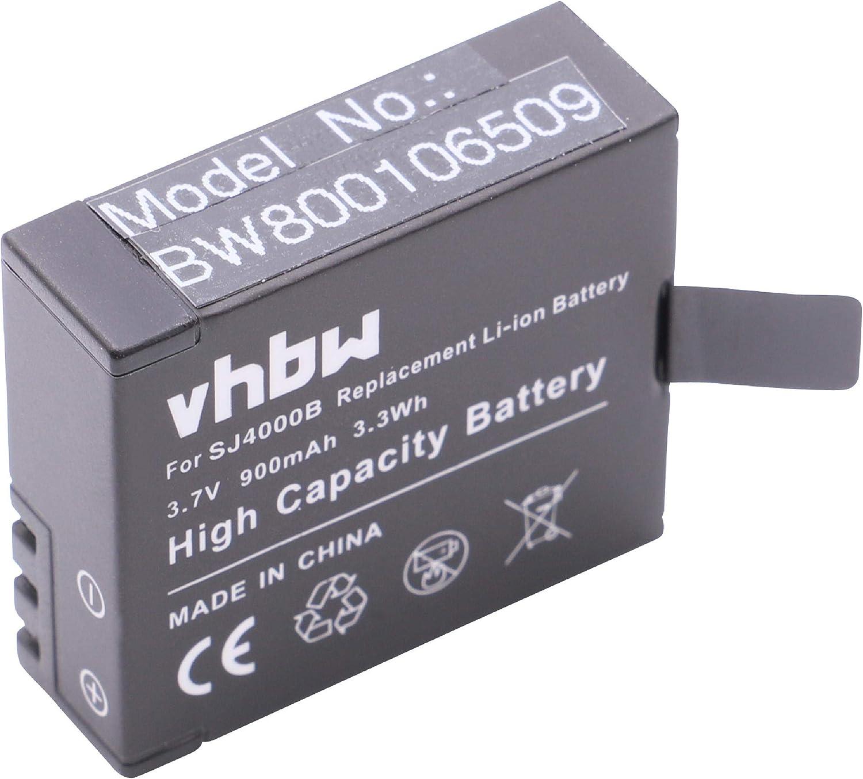 vhbw Li-Ion batería 900mAh (3.7V) para videocámara GitUP Git1, Git2, Kebo SJ6000 y GIT-LB101.: Amazon.es: Electrónica