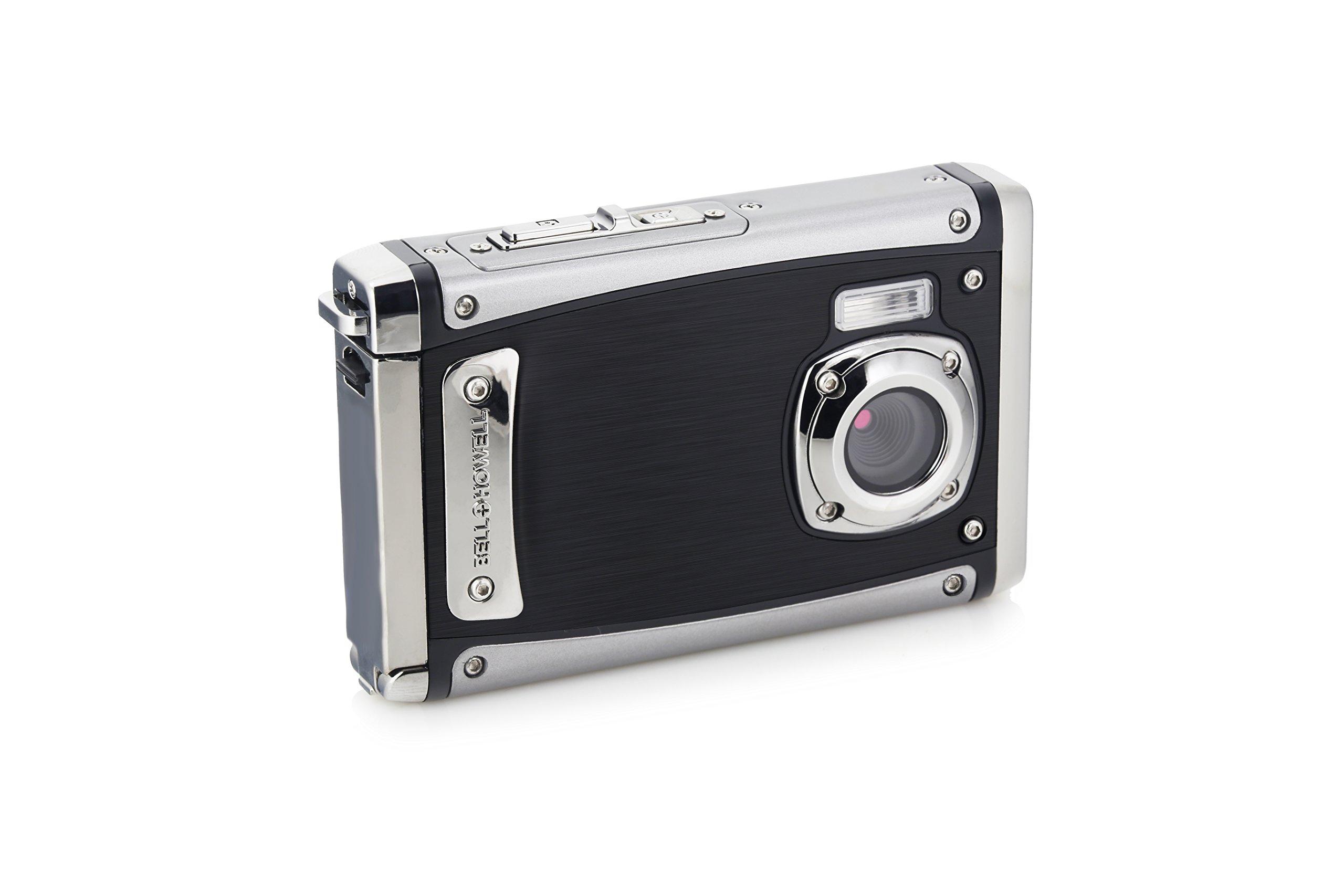 Bell+Howell WP20-BK Splash3 20 Mega Pixels Waterproof Underwater Digital Camera with Full 1080p HD Video, 2.4'' LCD & 8X Digital Zoom, Black